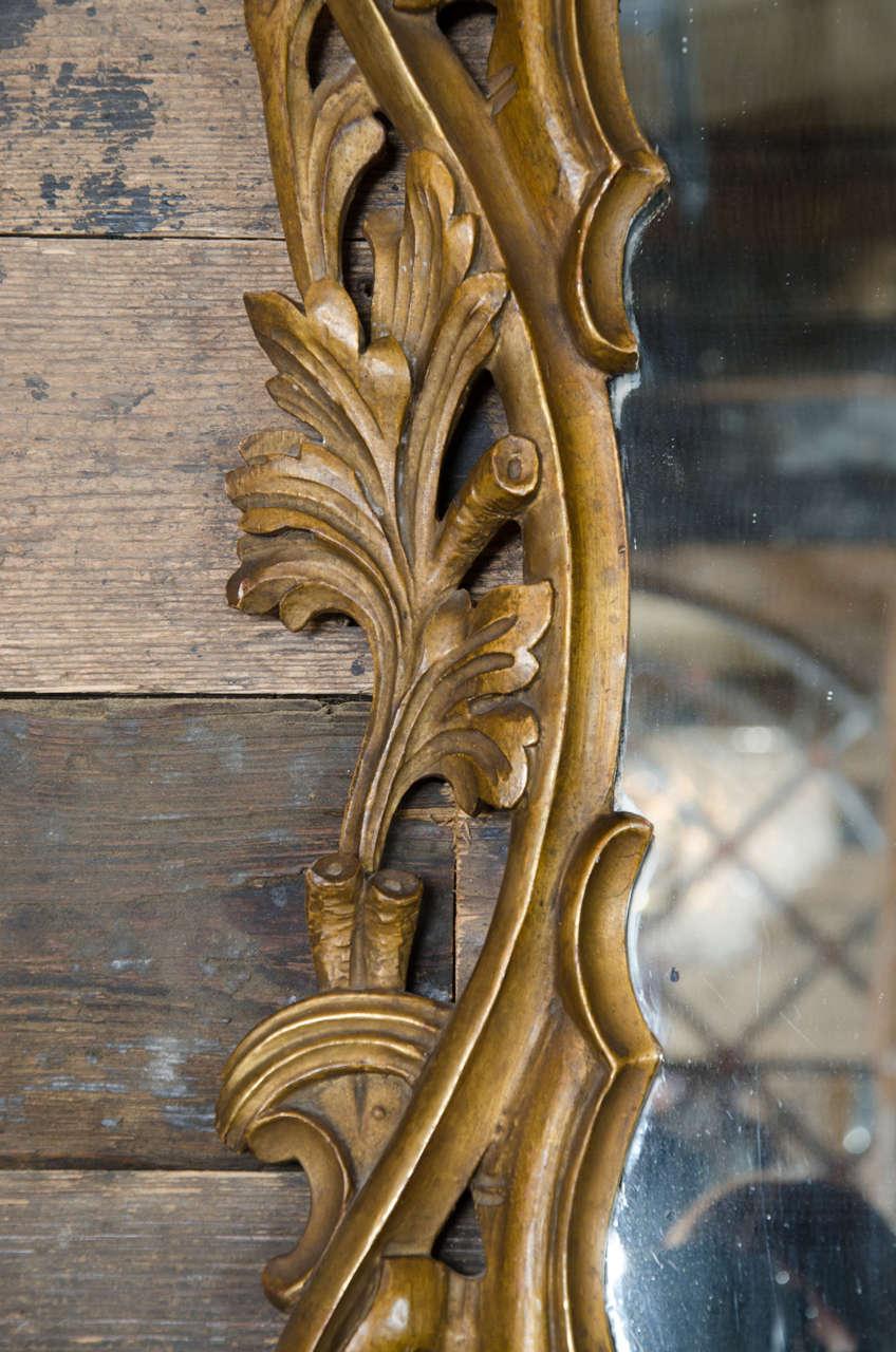 Antique rococo style gilt mirror at 1stdibs for Rococo decorative style