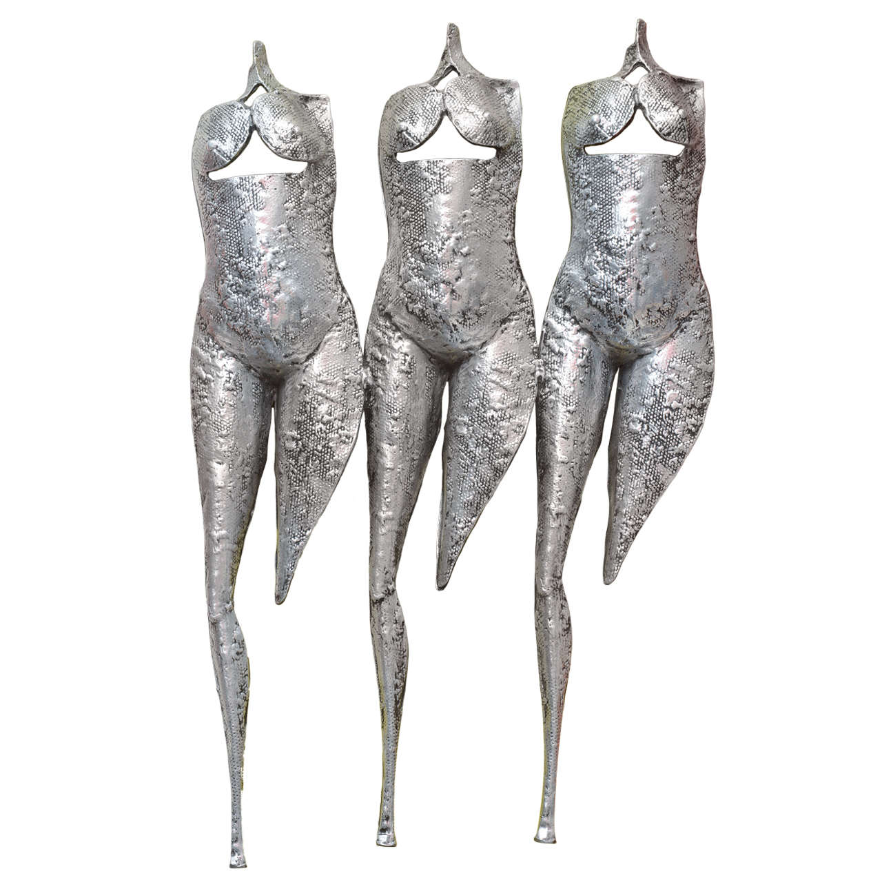 "Textural, Brutalist & Dimensional ""Three Torsos Female Muse Wall Sculpture"" SALE"