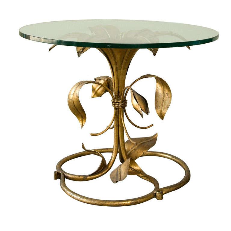 Gilt Flower Side Table