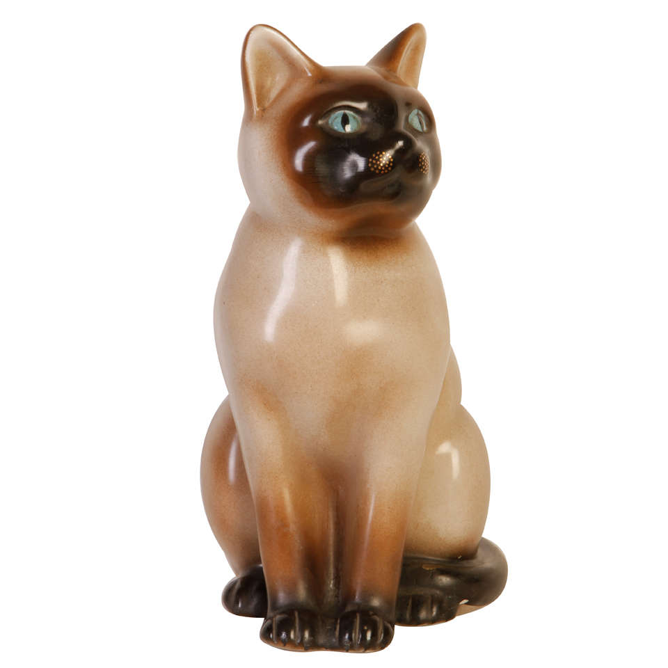 Porcelain Cat By Piero Fornasetti At 1stdibs