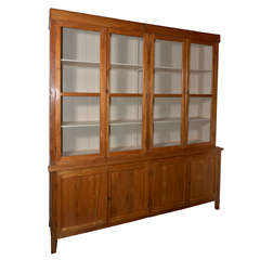 Antique British Colonial Bookcase with Pigeon Wire Doors