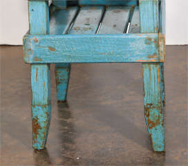 Antique French Folk Art End Table in Painted Pine  image 6