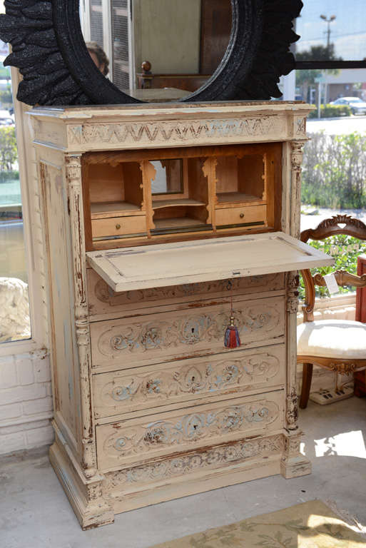 19th Century French Chest of Drawers with Writing Desk 3