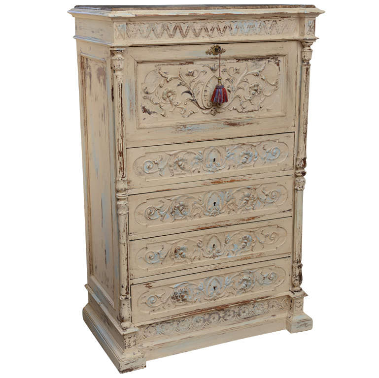 19th Century French Chest of Drawers with Writing Desk 1