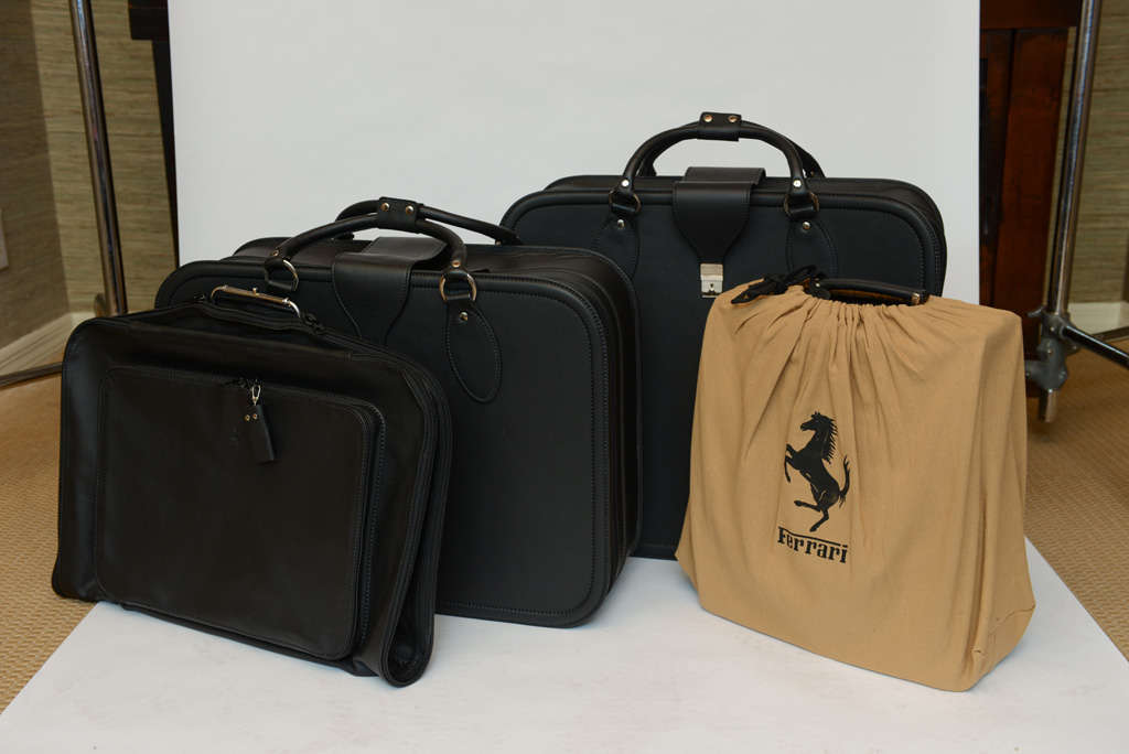 Set of Four Travel Ferrari 348 GTB Leather Luggage by Schedoni at ...