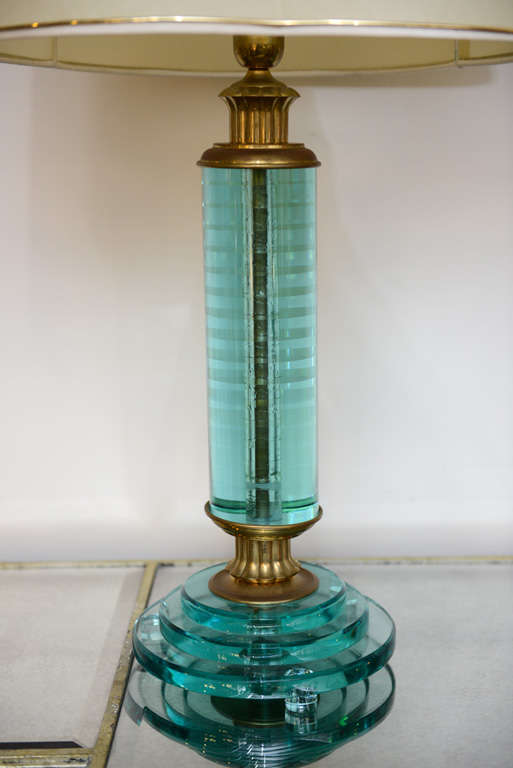 Italian Pair of Art Deco Lamps For Sale