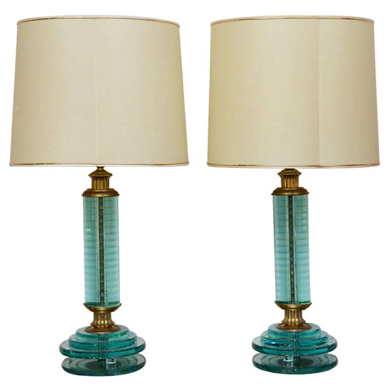 Pair of Art Deco Lamps For Sale