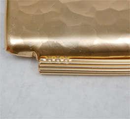 Gold Anodized Aluminum Repoussé Map Tray by Arthur Armour image 8