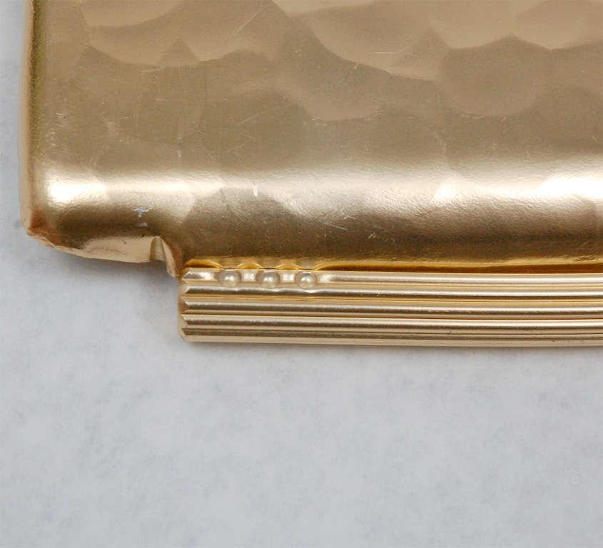Gold Anodized Aluminum Repoussé Map Tray by Arthur Armour 8