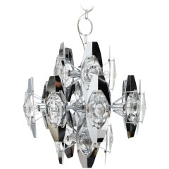 Oscar Torlasco Chrome Optic Chandelier