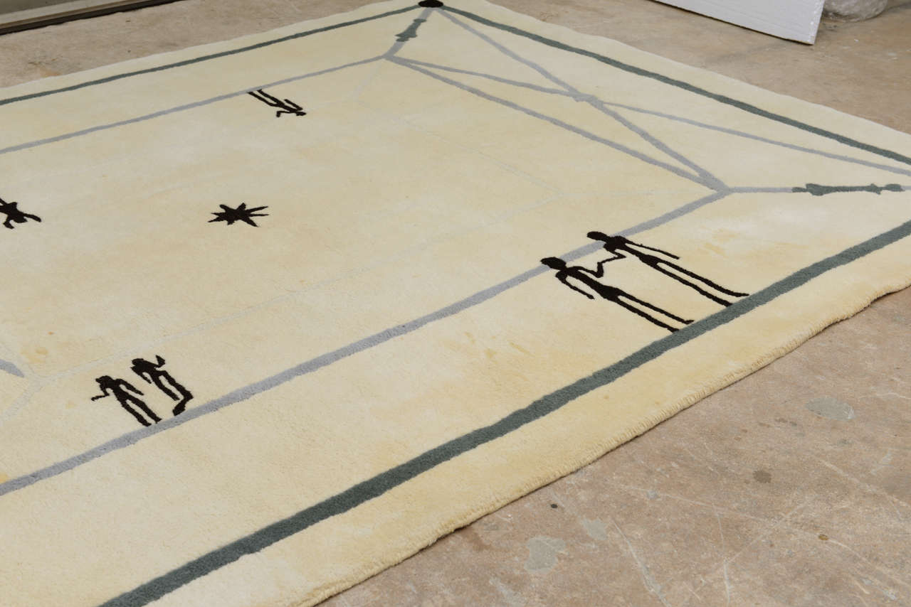 Diego Giacometti Rug In Good Condition For Sale In West Palm Beach, FL