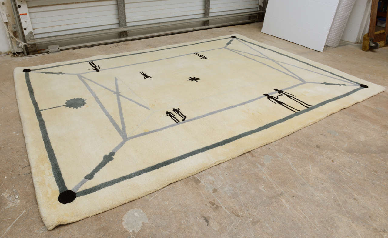 French Diego Giacometti Rug For Sale