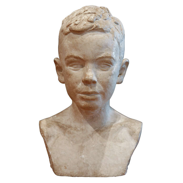 Bust Of A Young Boy Sweden At 1stdibs