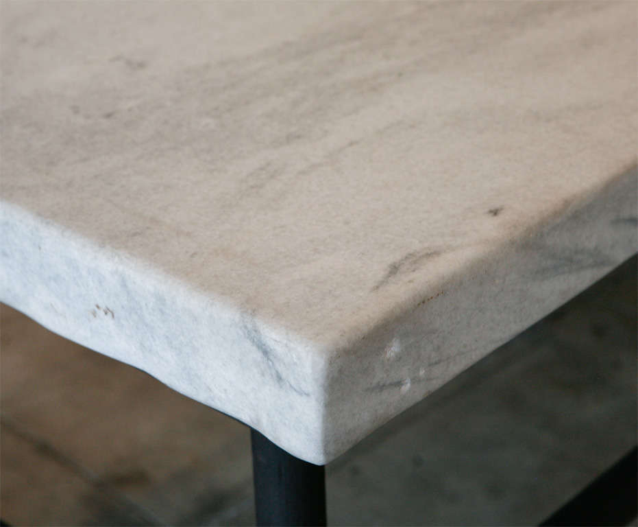 Massive Carrera Slab Top Kitchen Table, New England image 5