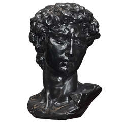 1960-1970 Resin Copy of Michelangelo's David's Head