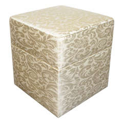 Hollywood Regency Upholstered Ottoman or Vanity Stool