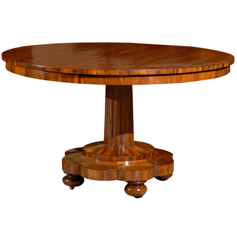 Early 19th century continental round center table in for Table th center
