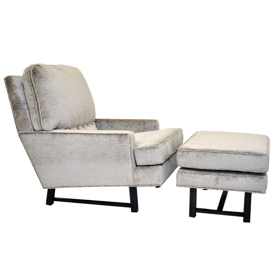 Harvey Probber Lounge Chair with Ottoman For Sale at 1stdibs