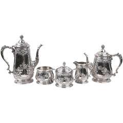 1930's Five Piece Steling Silver Tea & Coffee Serving Set