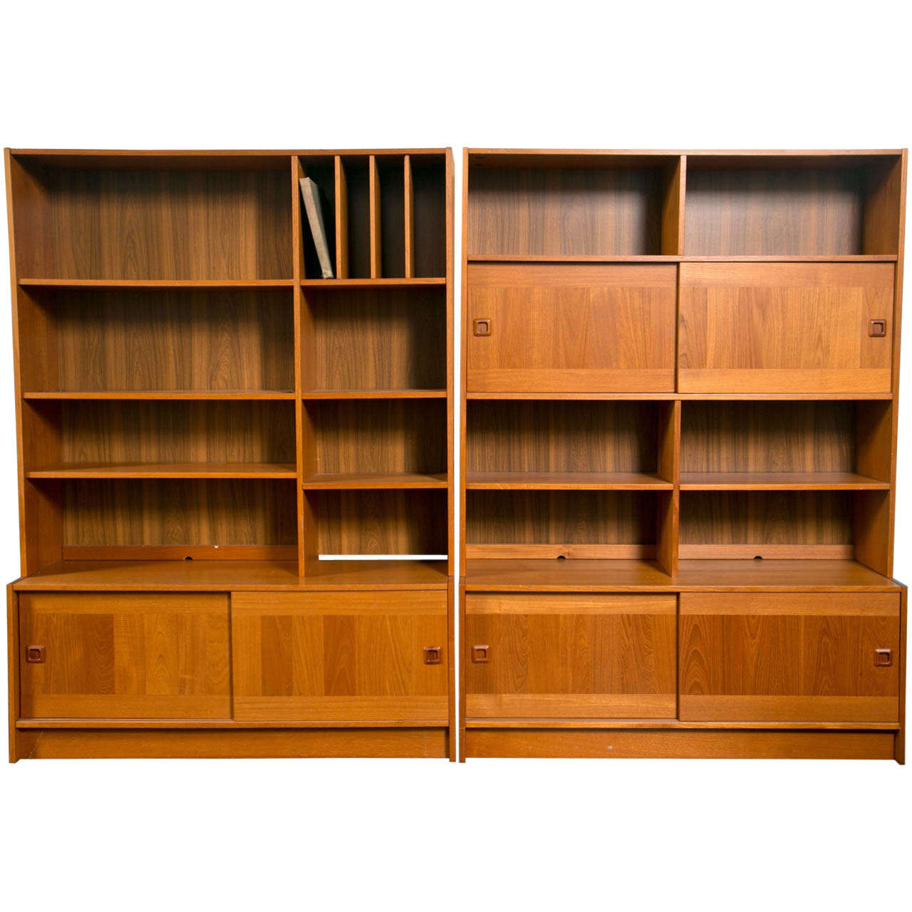 Awesome Mid Century Danish Modern Teak Wall Units By Domino Mobler 1