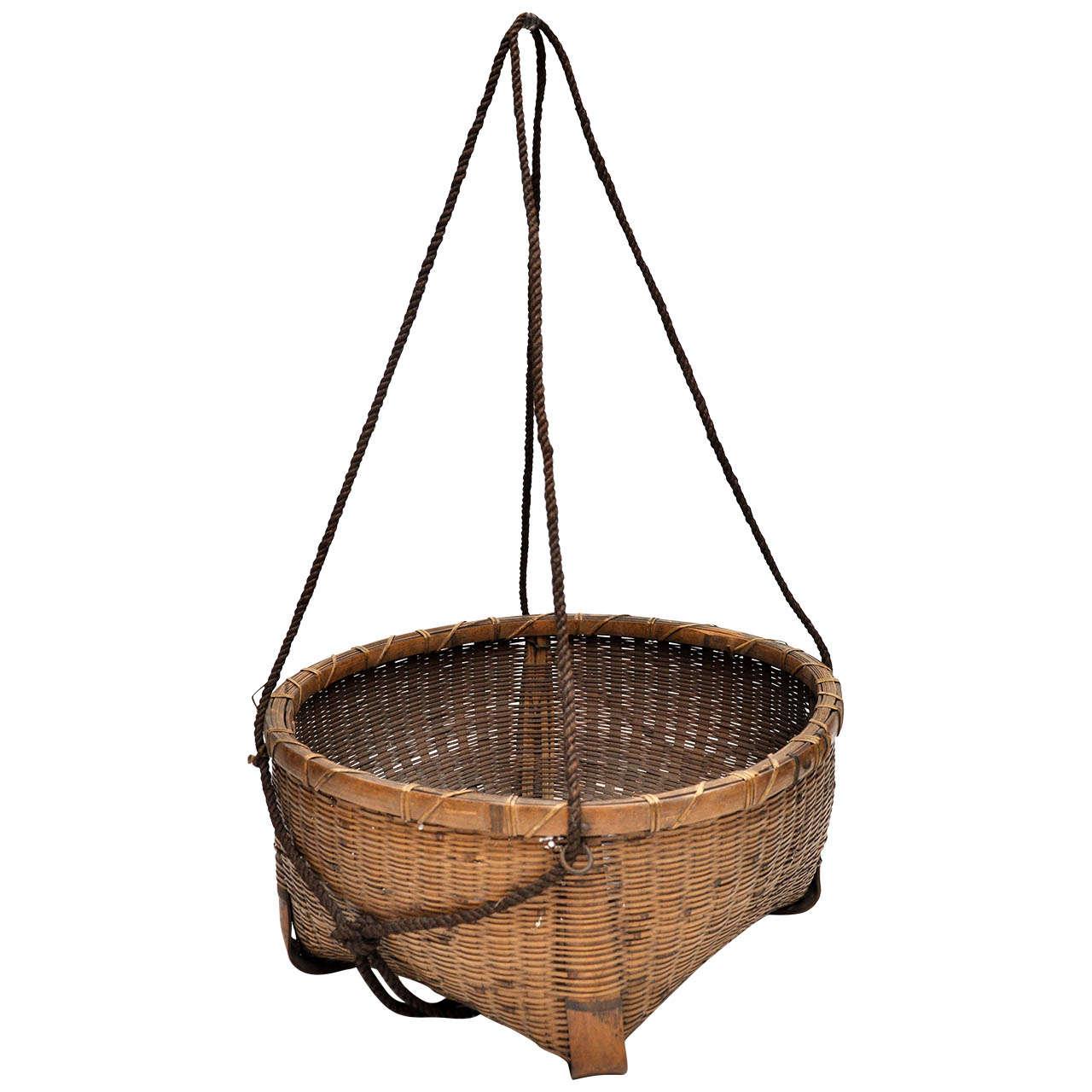 20th Century Japanese Fishing Basket