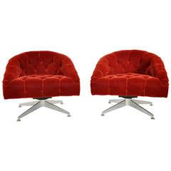 Ward Bennett Lounge Chairs