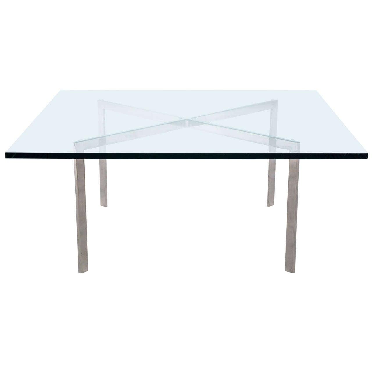 Ludwig Mies Van Der Rohe Barcelona Table At 1stdibs
