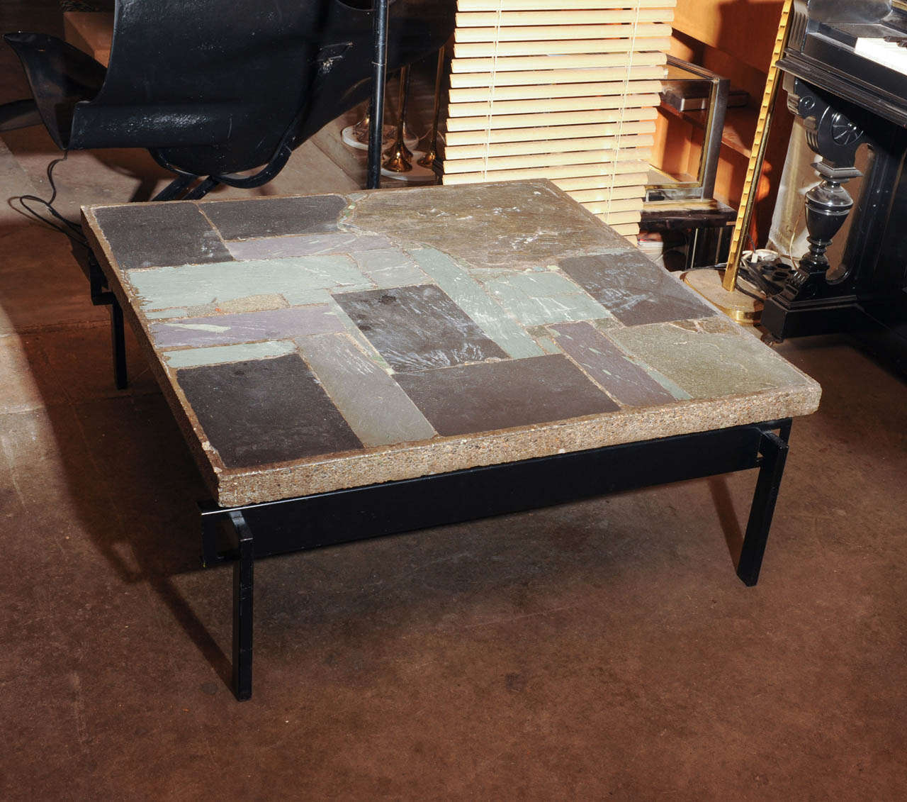 Wonderful Slate Stone Coffee Table By Paul Kingma At 1stdibs