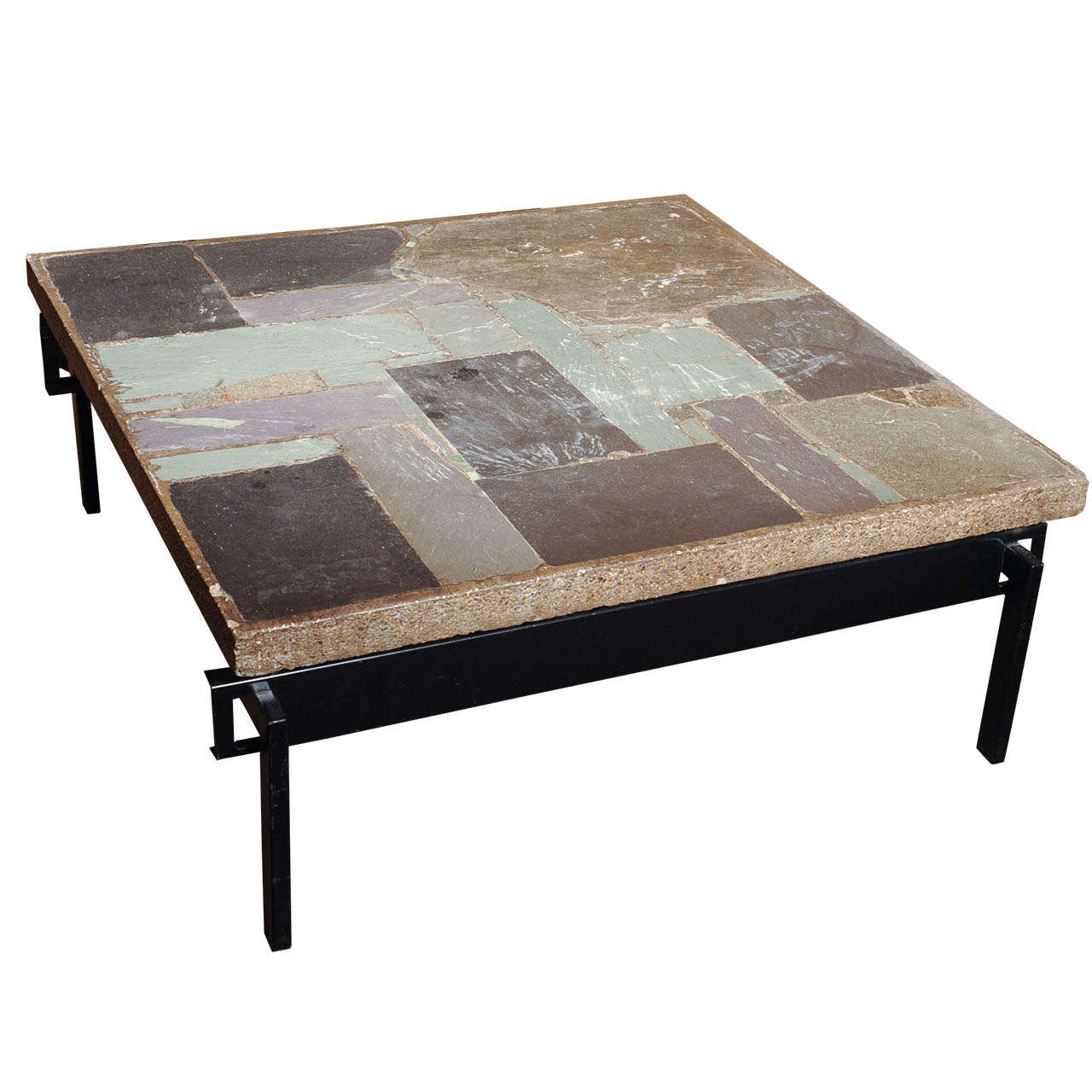 Wonderful slate stone coffee table by paul kingma at 1stdibs Stone coffee table