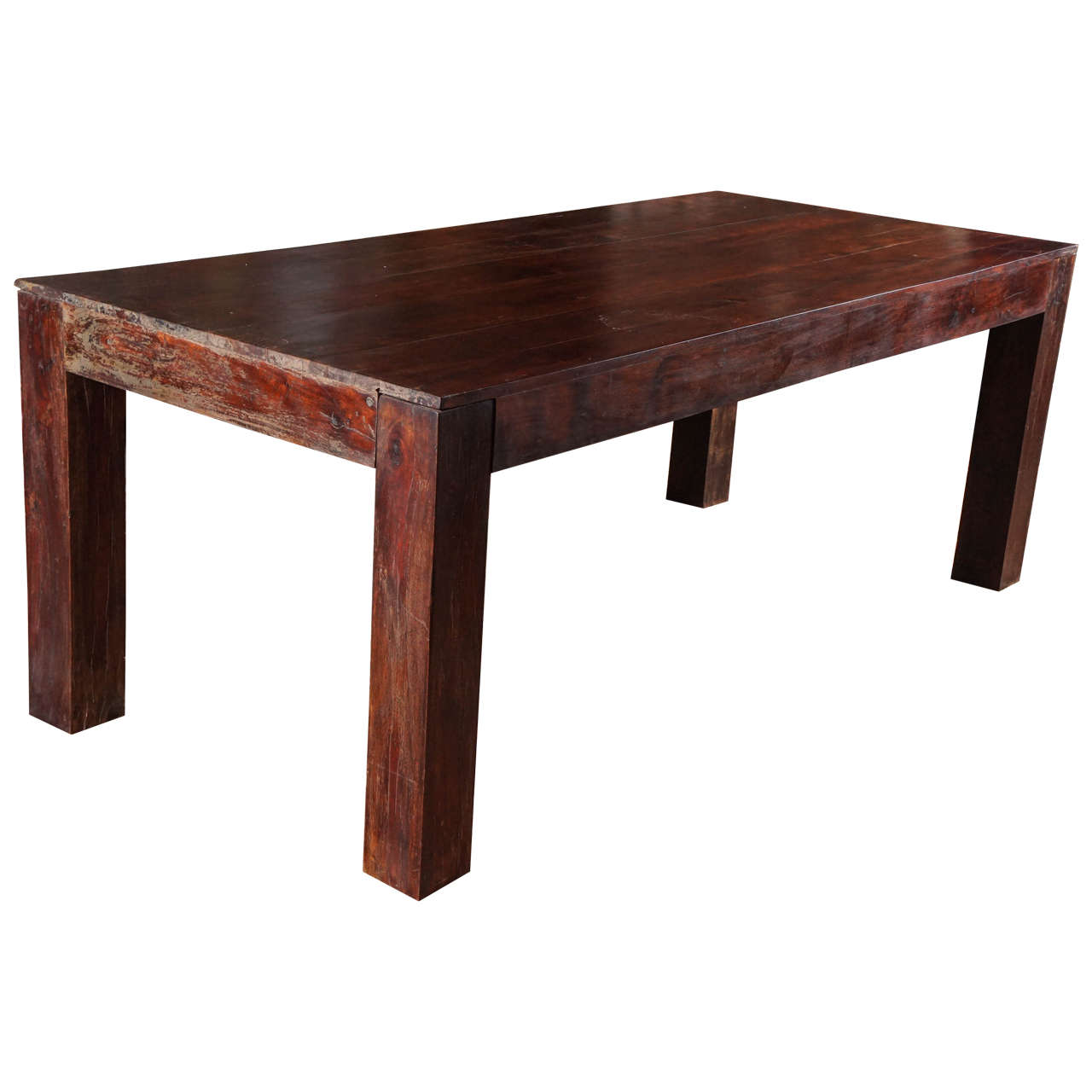 Sheesham (Indian Rosewood) Dining Table, Ca. 1950s 1