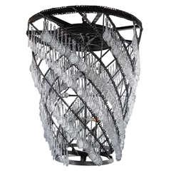 Monumental Industrial Crystal Chandelier