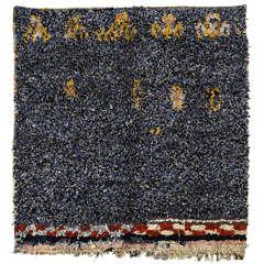 Large Square Moroccan Berber Boucherouite Rug
