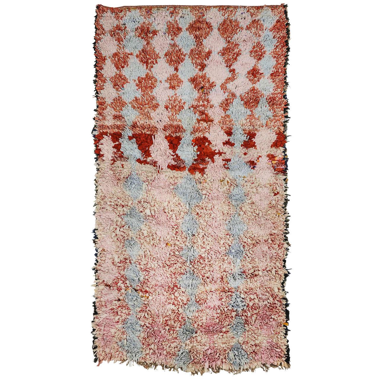 Moroccan Boucherouite Rug For Sale At 1stdibs: Berber Boucherouite Carpet At 1stdibs