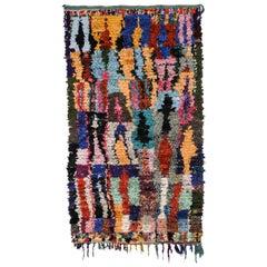 Rare Large Moroccan Berber Boucherouite Rug