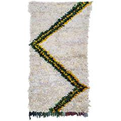 Unusual Berber Boucherouite Rug