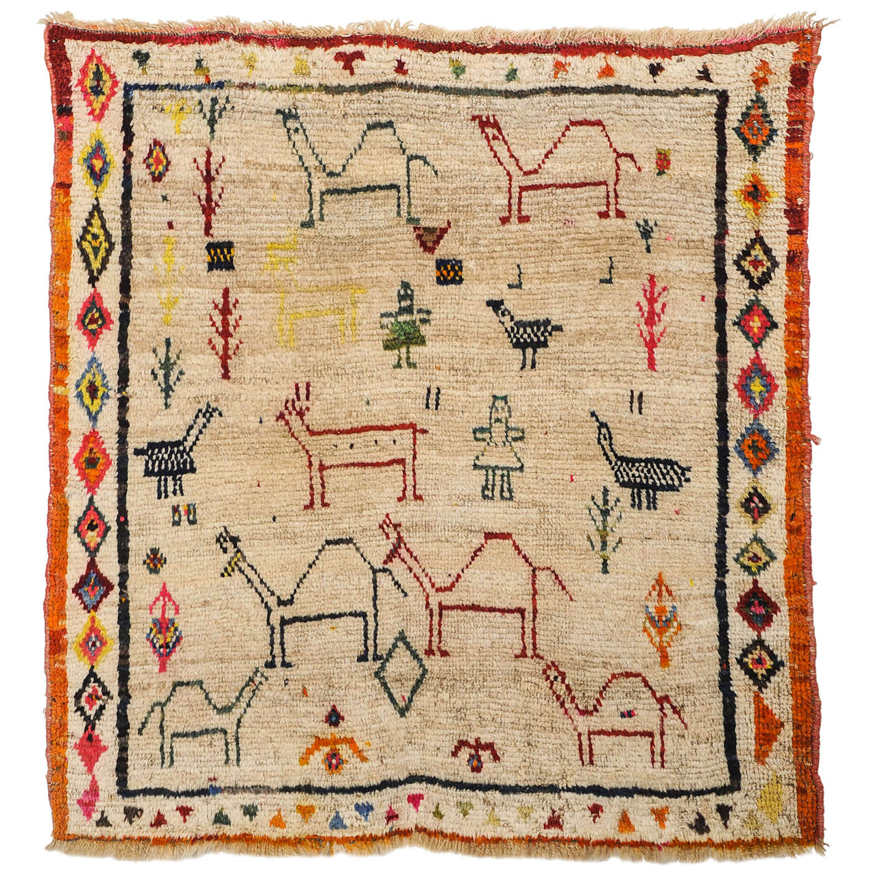 Kurdish Turkish Tribal Rug at 1stdibs