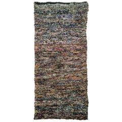 Minimalist Moroccan Berber Boucherouite Rug
