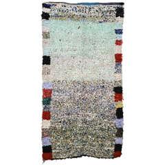Rare Large Moroccan Berber Boucherouite Carpet
