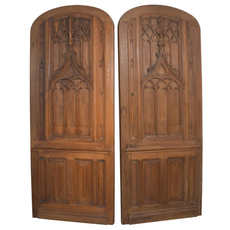 Beautiful Pair of 19th Century Gothic Doors from France For Sale  sc 1 st  1stDibs & Beautiful Pair of 19th Century Gothic Doors from France at 1stdibs