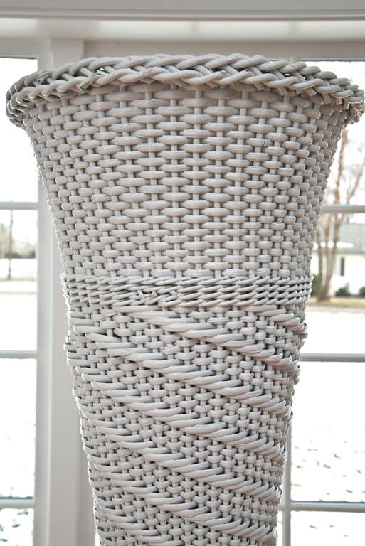 Base Metal Wicker plant stand  For Sale
