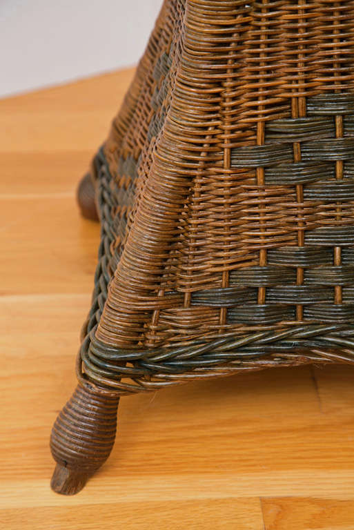 Cane Tall Wicker Planter For Sale