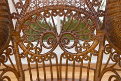 Antique Victorian Wicker Rocker image 4