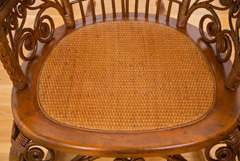 Antique Victorian Wicker Rocker image 5