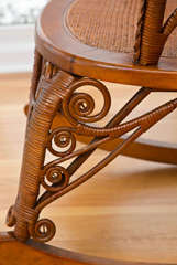 Antique Victorian Wicker Rocker image 7