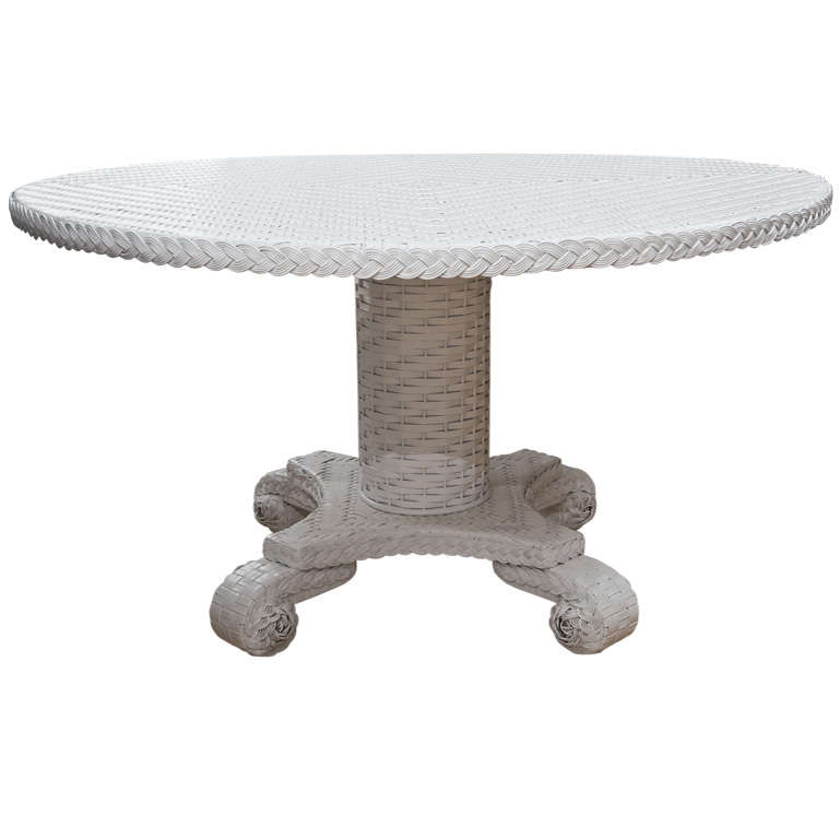Wicker Dining or Center Table