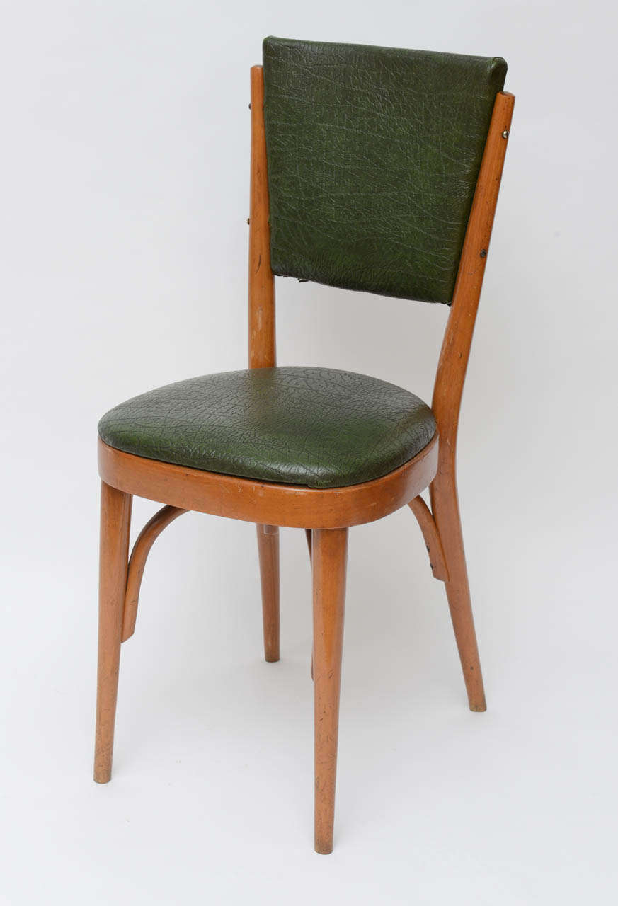 Set of Ten Italian Dining / Bistro Chairs In Good Condition For Sale In North Miami, FL