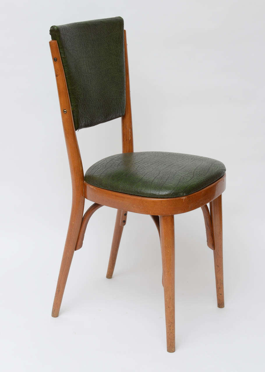 Mid-20th Century Set of Ten Italian Dining / Bistro Chairs For Sale