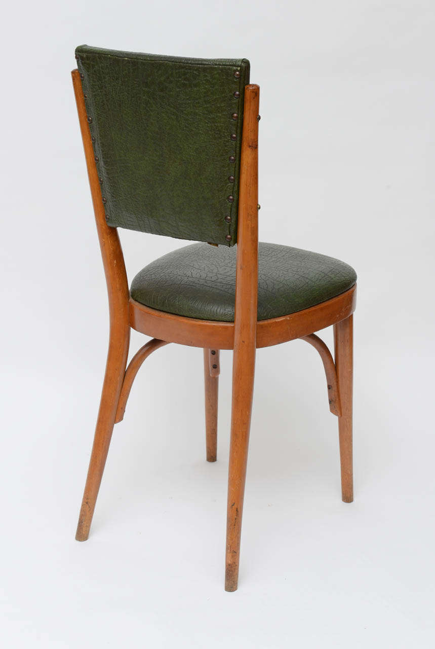 Set of Ten Italian Dining / Bistro Chairs For Sale 1