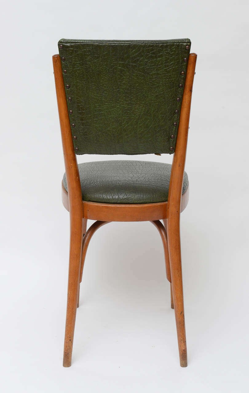 Set of Ten Italian Dining / Bistro Chairs For Sale 2