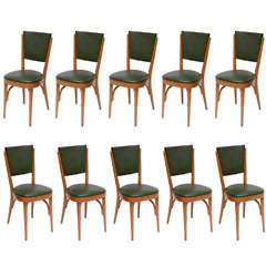 Set of Ten Italian Dining / Bistro Chairs